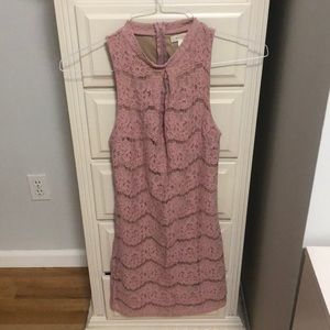 Light pink lace dress with full zipper in back